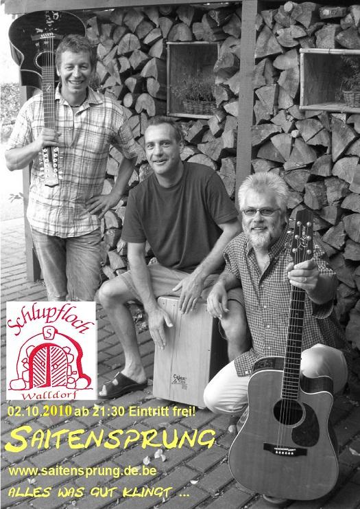 Trio Saitensprung aus Walldorf im Schlupfloch